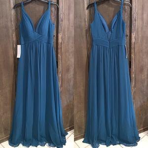 Azazie Maren Dress in Ink Blue